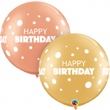 3ft Giant Balloons -  Birthday Big & Little Dots (2pc)